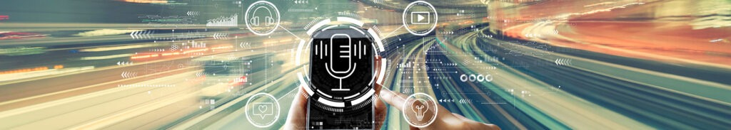 podcasting and phone concept graphic